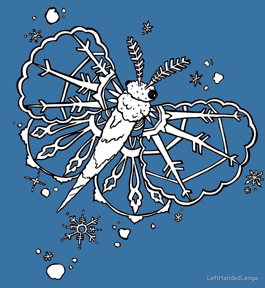 Abominable Snow Moth: Winter Snowflake Flight by LeftHandedLenya
