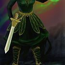 Fantasy wizard warrior by Anthropolog