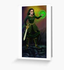 Fantasy wizard warrior Greeting Card