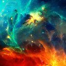 Space Nebula Galaxy by Anne Mathiasz