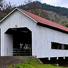 The Red Roof Covered Bridge by KirtTisdale