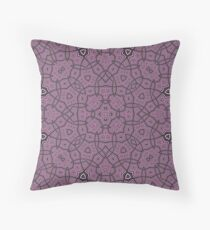 Purple trendy abstract pattern Throw Pillow