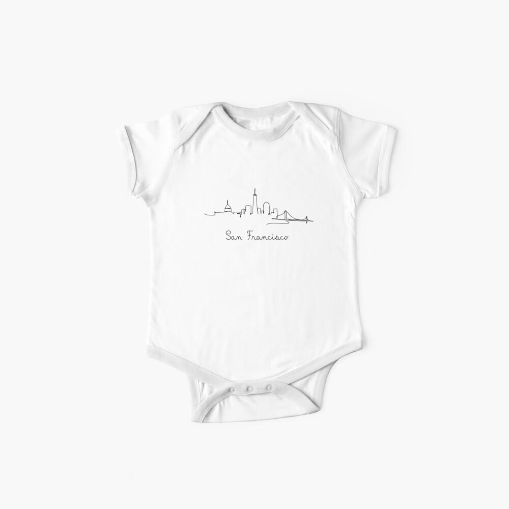 San Francisco - USA - Minimalistisch & Modern - Skyline - One Line - Souvenir - Zeichnung Baby Bodys