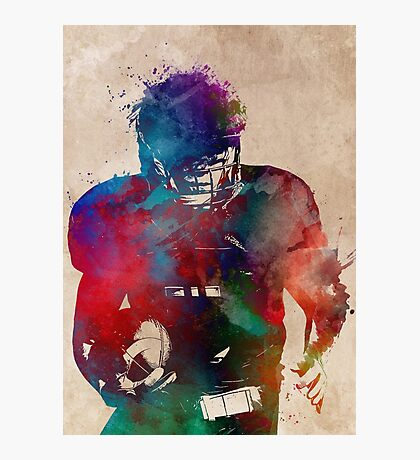 American football player #football #sport Photographic Print