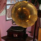 Brass Horn gramophone by Woodie