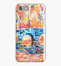 Clinker Bridge, Impressionist Painting iPhone Case/Skin