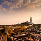 Causeway to St Mary's Lighthouse by John Dunbar