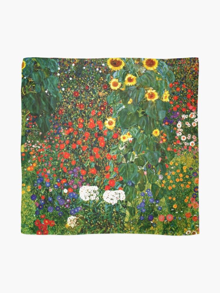 Alternate view of Klimt - Farm Garden with Sunflowers Scarf