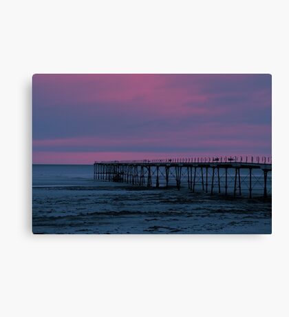 The Pier - Saltburn (Split Toned) Canvas Print