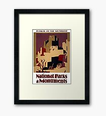 Pueblos of the American Southwest Framed Print