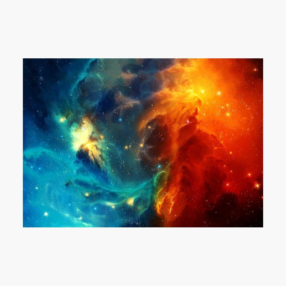 Galaxia nebulosa espacial Lámina fotográfica
