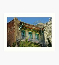 Living High in China Town Art Print
