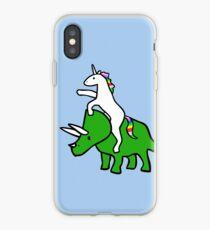 Einhorn Reiten Triceratops iPhone-Hülle & Cover