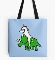 Bolsa de tela Unicorn Riding Triceratops