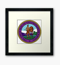 Great Seal of the Chickasaw Nation Framed Print
