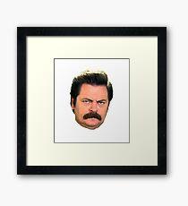 Ron face Framed Print