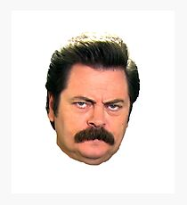 Ron face Photographic Print