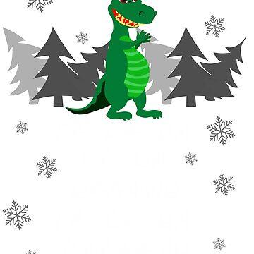 Fa Ra Ra Rawr Rawr Funny Dinosaur Christmas Hat T-Rex tshirt by GK-Graphics