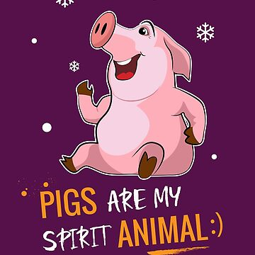 Pigs Are My Spirit Animal Funy Christmas gift by MVArtStudio