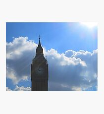 Rays of sun on Big Ben Photographic Print