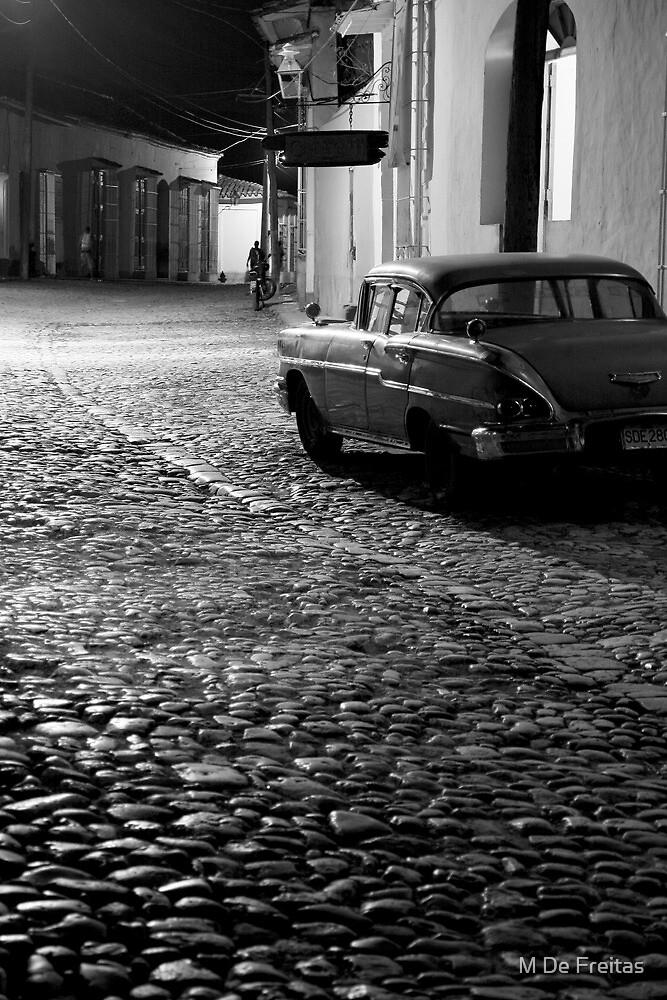 Cobble stone calle of Trinidad by M De Freitas