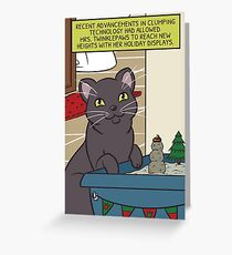 Mrs. Twinklepaws' Holiday Display Greeting Card