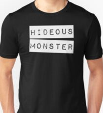 Camiseta ajustada Horroroso Monster Impact Label   Humor autodesprecio
