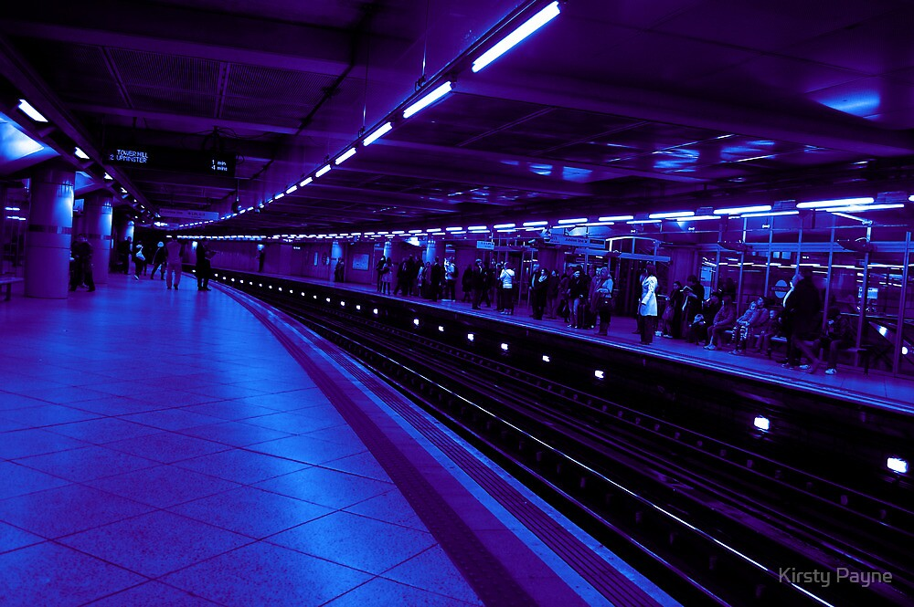 Underground Station - Blue and Purple by Kirsty Payne