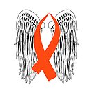 Winged Awareness Ribbon (Orange) by blakcirclegirl
