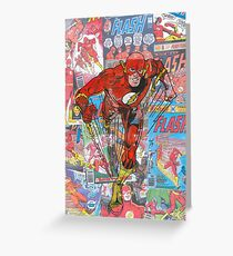 Vintage Comic Flash Greeting Card