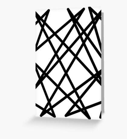 Black lines Greeting Card