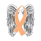 Winged Awareness Ribbon (Peach) by blakcirclegirl
