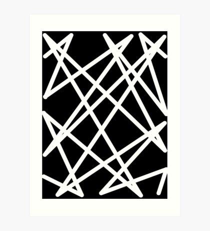White Lines Art Print
