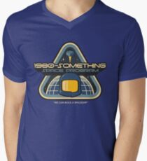 1980-Something Space Program Men's V-Neck T-Shirt