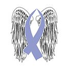 Winged Awareness Ribbon (Periwinkle) by blakcirclegirl