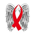 Winged Awareness Ribbon (Red) by blakcirclegirl