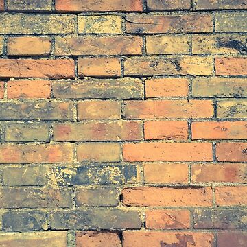 Old brick wall with cracks and scratches. Brick wall background. Distressed wall with broken bricks texture. House facade by AnaMOMarques