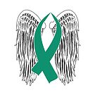 Winged Awareness Ribbon (Teal) by blakcirclegirl