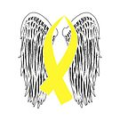 Winged Awareness Ribbon (Yellow) by blakcirclegirl