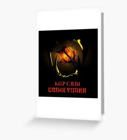 KEEP CALM DRINK VODKA Greeting Card