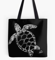 Sea Turtle Outline Tote Bag