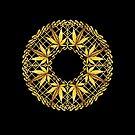 Cannabis Zen Mandala by Stacey Lynn Payne