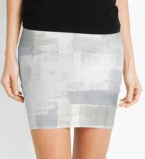 Gray on Grey Abstract Mini Skirt