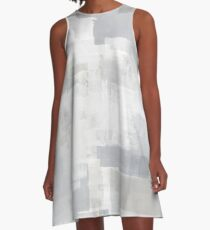 Gray on Grey Abstract A-Line Dress