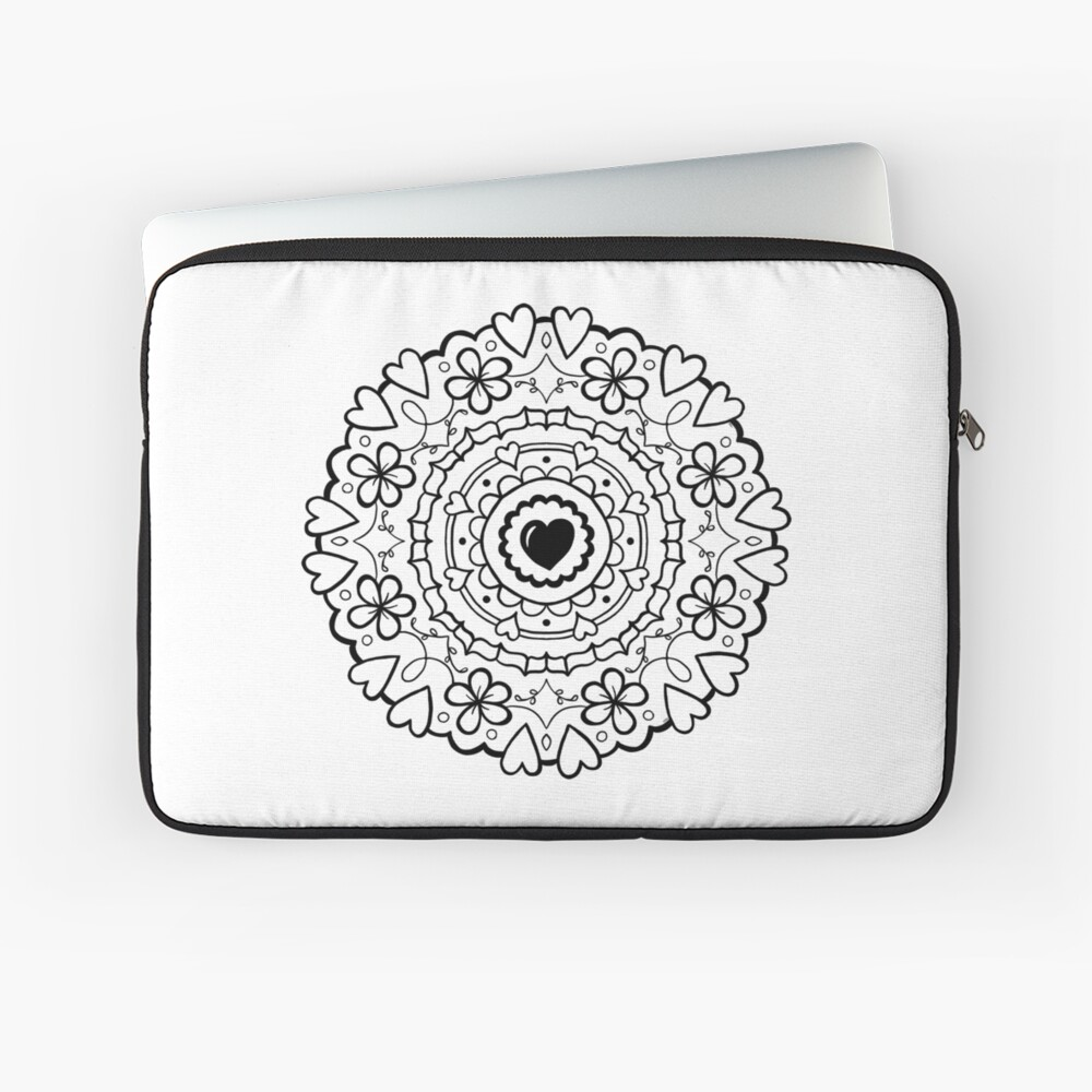 Just Add Colour - Mandala Love Laptop Sleeve