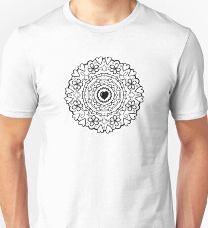 Just Add Colour - Mandala Love T-Shirt