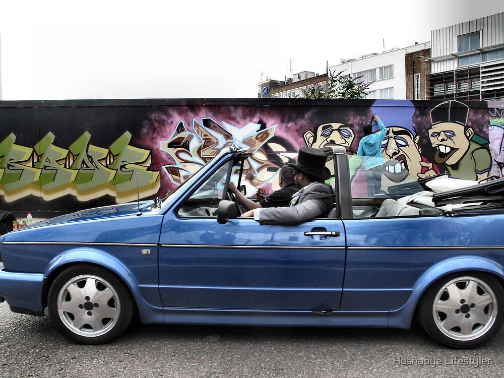 Graf Walls, Top Hats and Drop Tops... by Hushabye Lifestyles