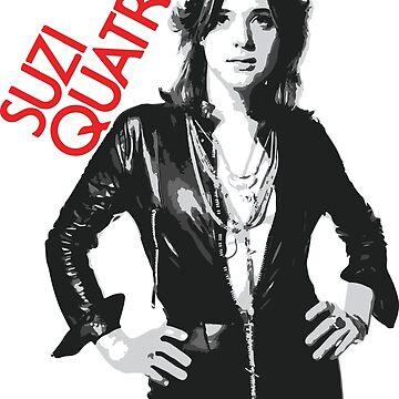 Suzi Quatro 70s Vintage Retro 1970s Crash Punk Rock by neonfuture