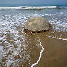Moeraki boulder. by Anne Scantlebury
