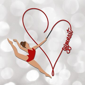 Red Gymnast Heart Text by umeimages